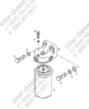 Кронштейн топливного фильтра (Bracket) 01174821