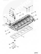Прокладка головки блока цилиндров V=5.9 2830705