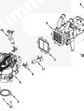 Патрубок клапана ЕГР 5289860