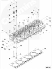 Седло выпускного клапана STD 3968074