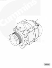 Генератор двигателя 28V, 70A 4939018