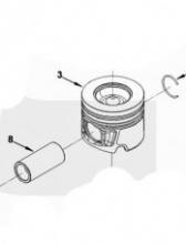 Поршень двигателя в сборе с пальцем Federal Mogul 4995266AE, PP1601-0-AE